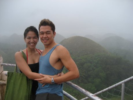 ClosetCat: Allan and Me in front of the Chocolate Hills